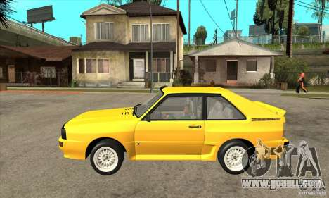 Audi SportQuattro 1983 for GTA San Andreas left view