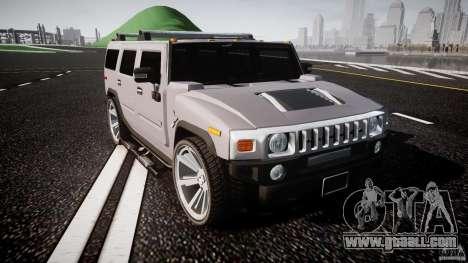 Hummer H2 for GTA 4 inner view
