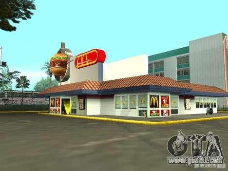 Mc Donalds for GTA San Andreas seventh screenshot
