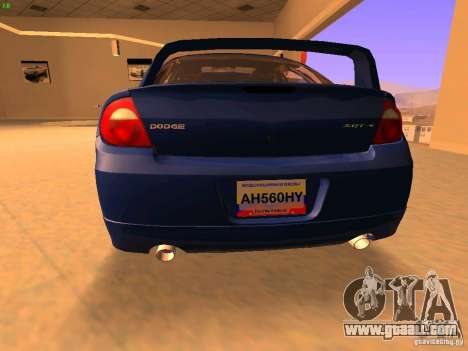 Dodge Neon SRT4 2006 for GTA San Andreas back left view