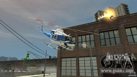 Bell412/NYPD Air Sea Rescue Helicopter for GTA 4 back left view