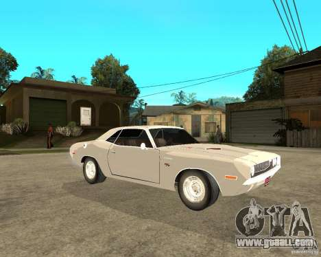 Dodge Challenger R/T Hemi 70 for GTA San Andreas right view