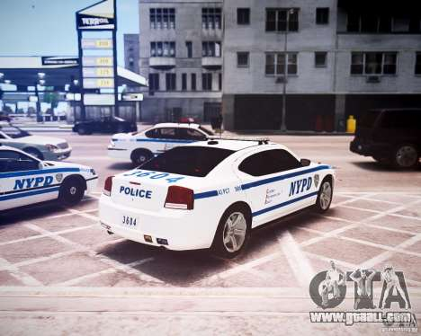 Dodge Charger 2010 NYPD ELS for GTA 4 back view