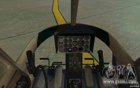 Bell 206 B Police texture4 for GTA San Andreas back view