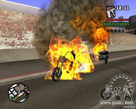 Ghost Rider for GTA San Andreas second screenshot