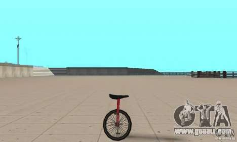 Unicycle for GTA San Andreas back left view