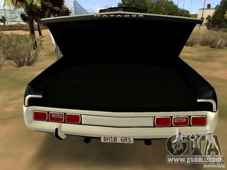 AMC Matador SA Police 1971 Final for GTA San Andreas back view