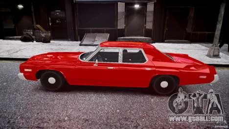 Dodge Monaco 1974 stok rims for GTA 4 left view