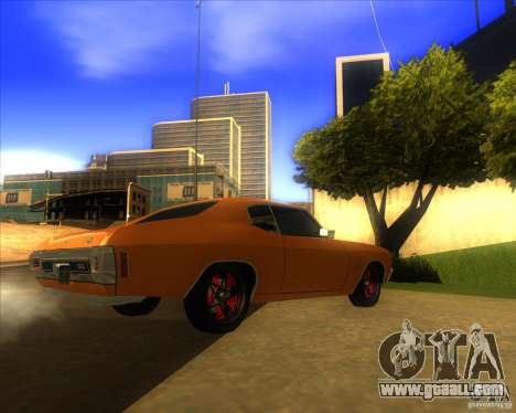 Chevy Chevelle SS Hell 1970 for GTA San Andreas back left view