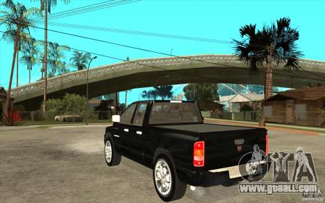 Dodge Ram 2500 2008 for GTA San Andreas back left view