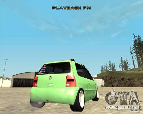 Volkswagen Lupo Hellaflush for GTA San Andreas inner view