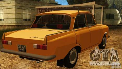 Moskvich 412 v2.0 for GTA San Andreas back left view