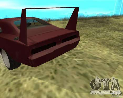 Dodge Charger Daytona for GTA San Andreas inner view