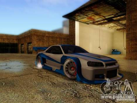 Nissan Skyline GTR34 DTM for GTA San Andreas