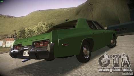 Dodge Monaco for GTA San Andreas inner view