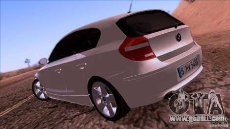 BMW 120i 2009 for GTA San Andreas right view
