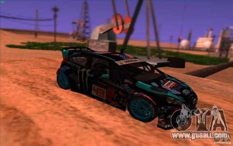 Ford Fiesta H.F.H.V. Ken Block 2013 for GTA San Andreas right view