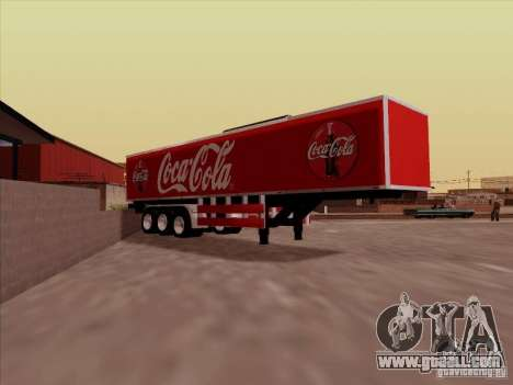 Trailer, Peterbilt 377 for GTA San Andreas right view