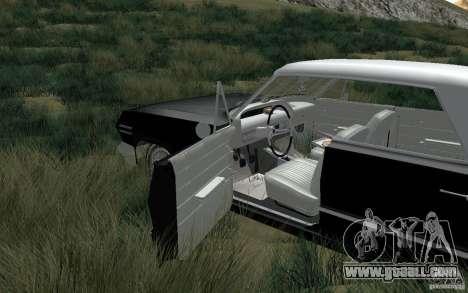 Chevrolet Impala 4 Door Hardtop 1963 for GTA San Andreas back left view