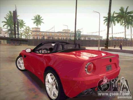 Alfa Romeo 8C Spider for GTA San Andreas left view