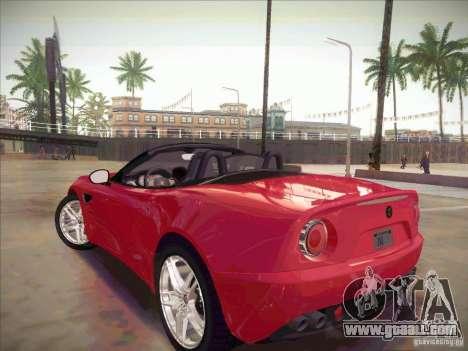 Alfa Romeo 8C Spider for GTA San Andreas left view