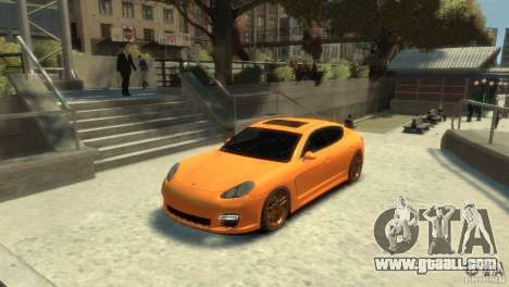 PORSCHE Panamera Turbo for GTA 4 back left view