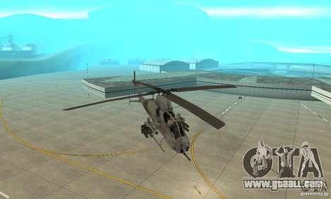 Hunter - AH-1Z Cobra for GTA San Andreas back view