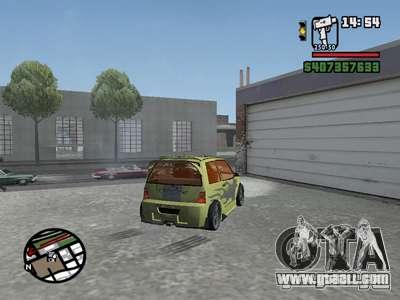 1111 OKA (tuning) for GTA San Andreas back view