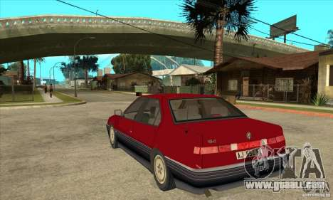 Alfa Romeo 164 for GTA San Andreas back left view