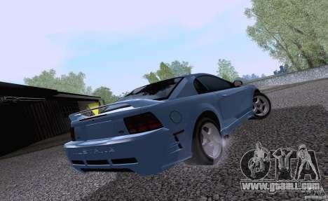 Ford Mustang SVT Cobra 2003 White wheels for GTA San Andreas back left view