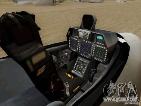 FA22 Raptor for GTA San Andreas inner view