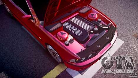 BMW 530I E39 stock chrome wheels for GTA 4 bottom view