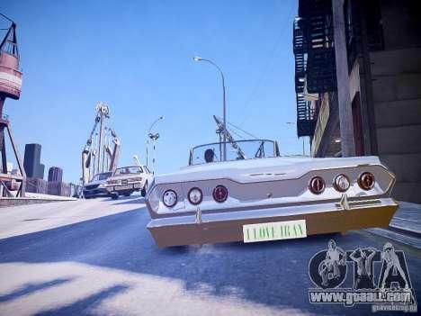Chevrolet Impala 63 for GTA 4 back left view