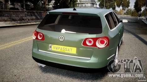 Volkswagen Passat Variant R50 for GTA 4 back left view