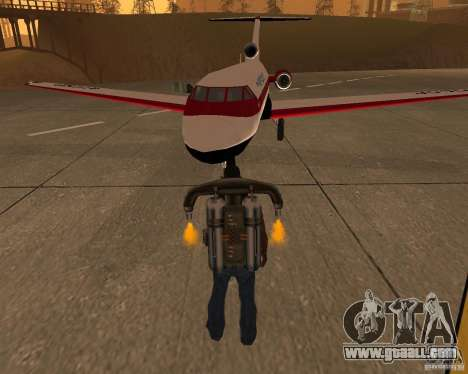 The plane Yak-40 for GTA San Andreas
