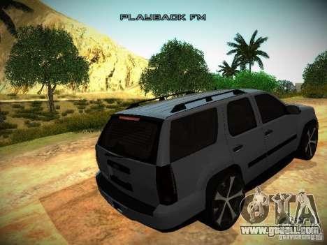 Chevrolet Tahoe HD Rimz for GTA San Andreas inner view