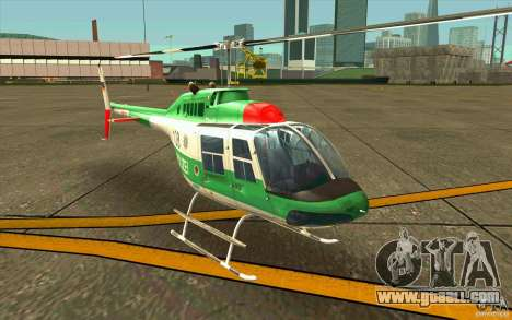Bell 206 B Police texture3 for GTA San Andreas left view