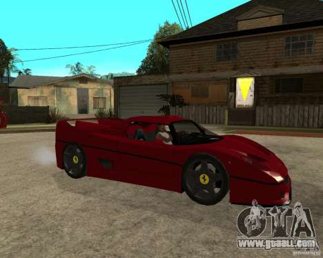 Ferrari F50 - style DTM TUNING for GTA San Andreas right view