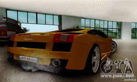 Lamborghini Gallardo for GTA San Andreas back left view