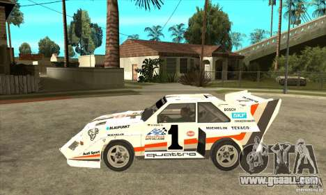 Audi Quattro S1 Pikes Peak for GTA San Andreas left view