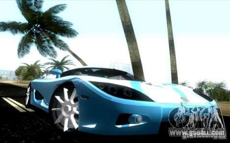 Koenigsegg CCX for GTA Vice City right view