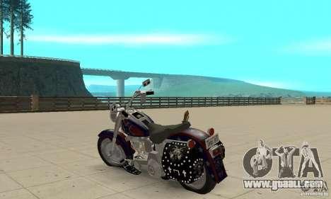 Harley Davidson FLSTF (Fat Boy) v2.0 Skin 4 for GTA San Andreas back left view