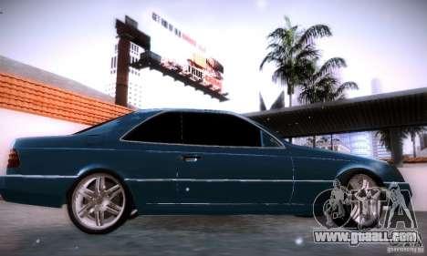 Mercedes-Benz 600SEC for GTA San Andreas left view