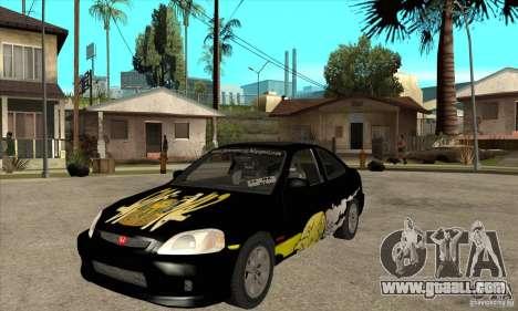Honda Civic Tuning Tunable for GTA San Andreas