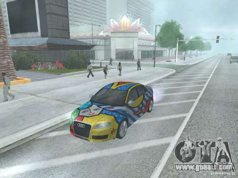 Audi RS 4 for GTA San Andreas back left view
