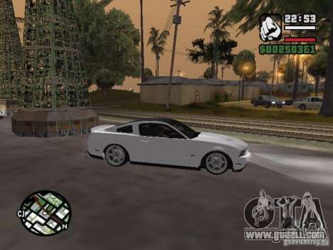 Ford Mustang GT B&W for GTA San Andreas right view