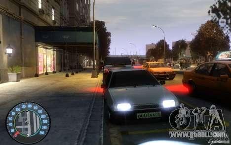 VAZ 2109 Dagestan tuning for GTA 4 left view