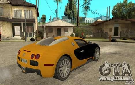 Bugatti Veyron v1.0 for GTA San Andreas right view