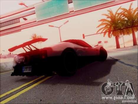 Pagani Zonda Cinque for GTA San Andreas upper view