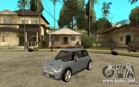Mini Cooper - Stock for GTA San Andreas